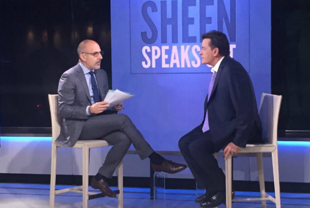 Charlie Sheen announced his HIV positive diagnosis on The Today Show