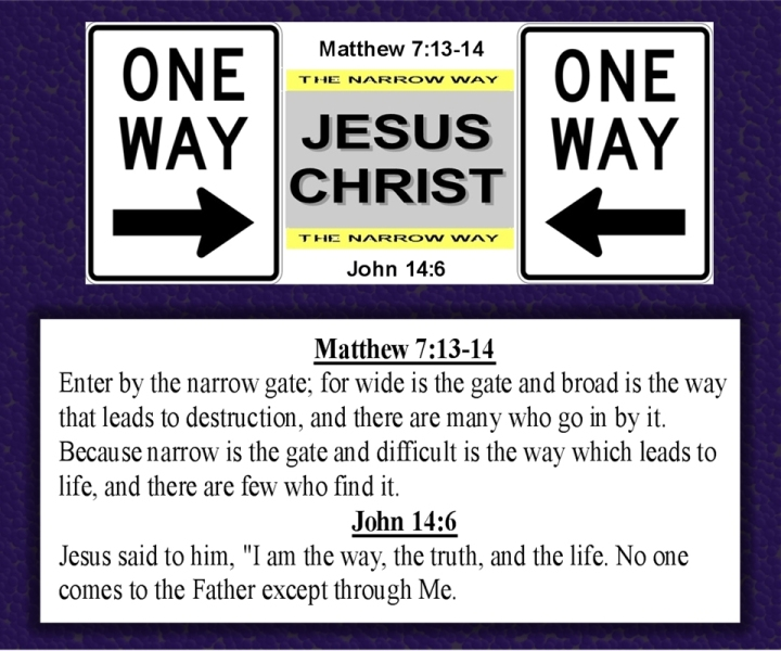 One Way Jesus Christ image courtesy of cocathampstead-webs
