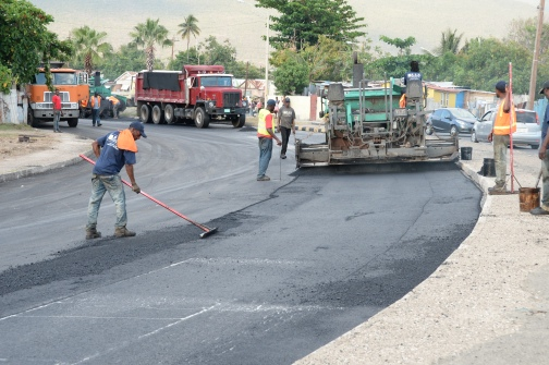 Road works in jamaica for Obama's visit image courtesy of jamaicaobserver
