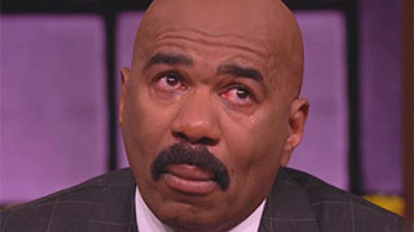 steve harvey crying