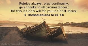 Morning Meditation: 1 Thessalonians5:16-18